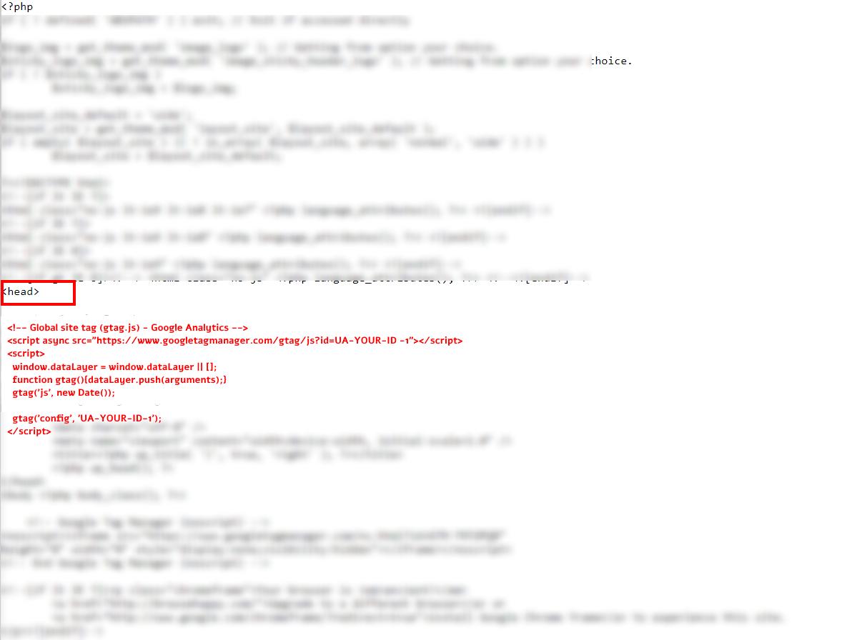 הטמעת קוד המעקב של גוגל אנליטיקס ישירות בקוד האתר - יוריס דיגיטל