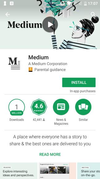 טופנדה ASO - דוגמא להנעה לפעולה של אפליקציית medium