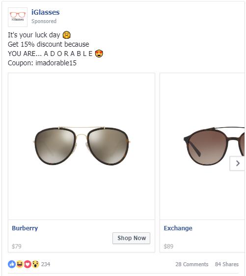 קמפיין דוגמא לשלב השלישי בשיטת המשפך השיווקי בפייסבוק