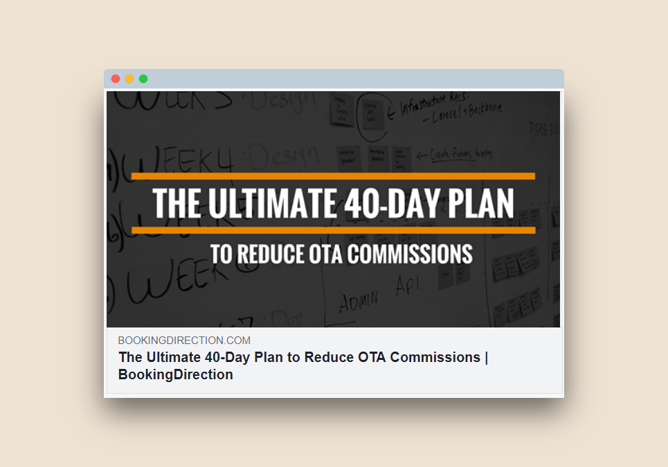 The Ultimate 40-Day Plan to Reduce OTA Commissions