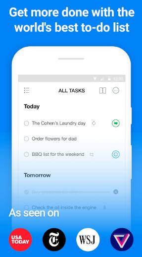 תמונת מסך ראשונה של אפליקציית Any.do